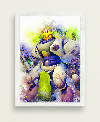 Orisa Poster Overwatch Game Poster BIG SIZE 33x47 Gamer Print SW447