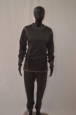 Highlander Women's Thermo 160 Base Layer Set - Dark Grey, X-Large