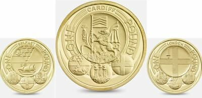 Capital Cities - Rare Circulated £1 (One Pound) Coins - London, Belfast, Cardiff