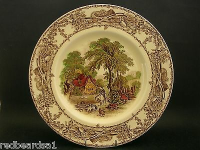 A.J. Wilkinson Rural Scenes Vintage China Display Cabinet Plate England c1940s