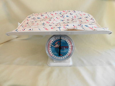 Vintage Toddle Time Nursery Baby Scales With Original Pad 30 Lbs