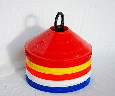 Lionstrike Football Rugby Training Cones Pack of 50 plus Stand BEST QUALITY