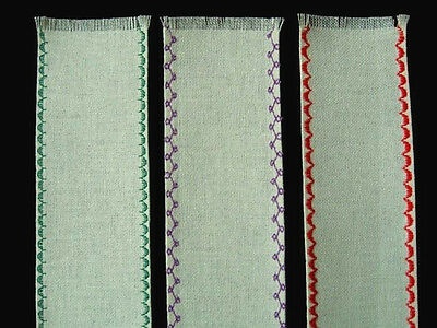 """NEW 3 Antique White 28 Count Blank  Evenweave Bookmarks 2.50"""" x 8.50"""":"""