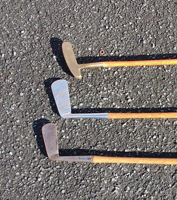 3 Hickory Putters one made by R Forgan at St. Andrews.