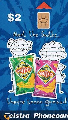 Telstra Phonecard Potato Smiths Crisps - Meet The Smiths  B23