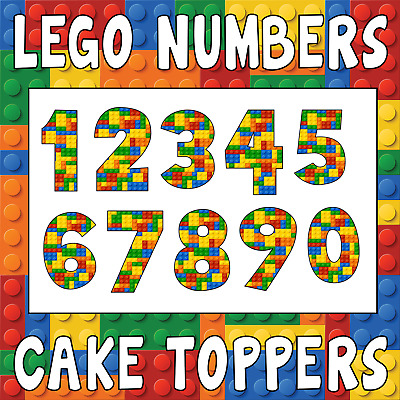 Decorations Cake Toppers LEGO Birthday Number Baking Accs Decorating Children Anniversary
