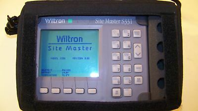 Nice Wiltron S331 Site Master with case and New Battery & Charger Fully Tested!