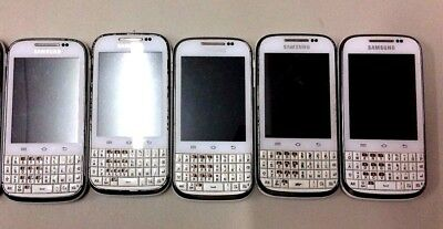 5 Lot Samsung Galaxy Chat GT-B5330L GSM Locked For Parts Used Wholesale As Is