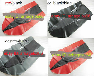BLACK/RED BLACK/GREY SEAT COVER fit HONDA XR CRF 100 125 150 200 230 250 400 450