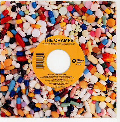"""The CRAMPS : Naked Girl Falling Down The Stairs - 7"""" USA 1995  EX / EX"""