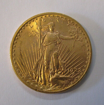 20 $ Twenty Dollars Goldmünze Double Eagle Saint Gaudens - USA 1922