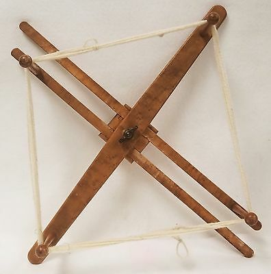 Antique Birds Eye Maple Yarn Winder Shaker or Similar