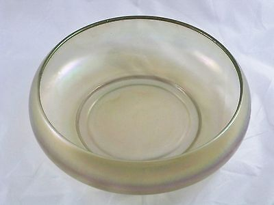 Imperial Stretch Glass Gray Large Console Bowl