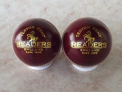 "Two Readers Regal Crown A Mens Cricket Balls ""Back Of The Cupboard Find"""