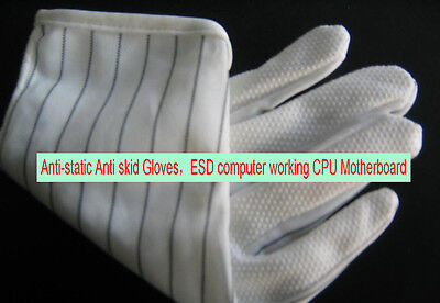 20 pair Anti-static Anti skid Gloves ESD computer working PCB IC CPU Motherboard