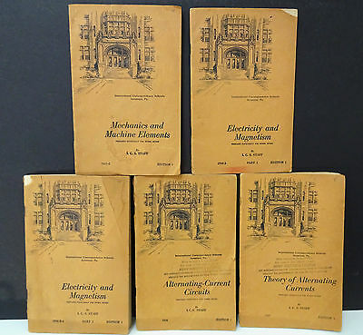 Lot of 5 Booklets WWII US ARMY INSTITUTE COURSE in ELECTRICITY