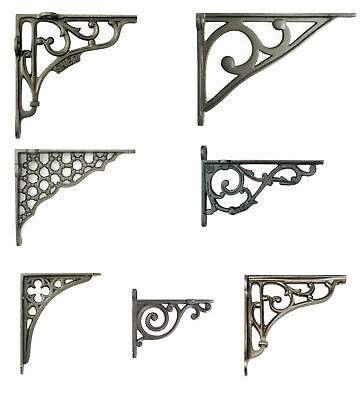 Single Cast Iron Shelf Bracket Decorative Rustic Antique Victorian Support Wall