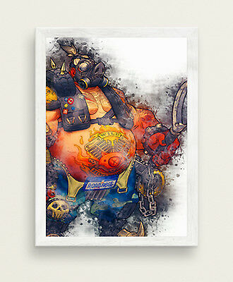 Roadhog Poster Overwatch Game Poster BIG SIZE 33x47 Print SW449