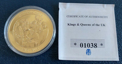 Kings and Queens of the UK - Magna Carta / CU Gold Plated Proof Coin / COA
