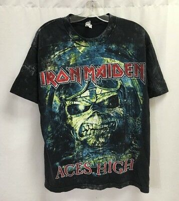 Iron Maiden Aces High All Over Print T-Shirt Size Large