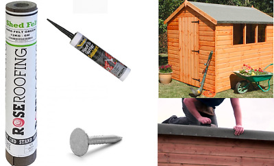 Green Shed Felt Roofing Felt 5m Includes Felt Nails and Everbuild Adhesive Kit
