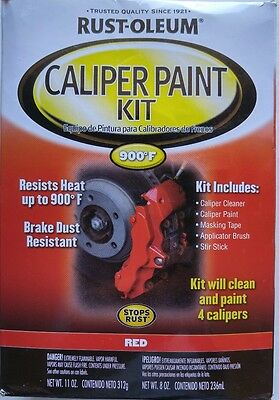 Rust-Oleum Caliper Paint Kit, Red Automotive 257169 Heat Resistant to 900F New