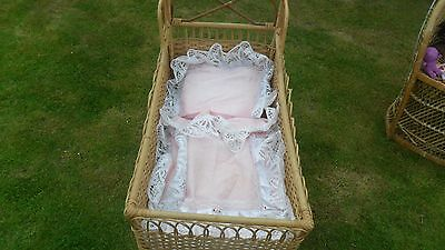 "REDUCED: A DOLL's or TEDDY BEAR's Vintage CRIB/BED (16"" x 32 "" )"