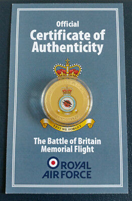 RAF - Lest We Forget / Royal Air Force Commemorative 24ct Gold Plated Coin / COA