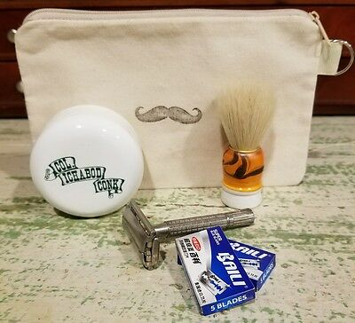 Vintage Gillette Safety Razor Shaving Kit
