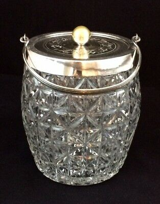 Vintage Silver Plate Ice Bucket or Biscuit Barrel with Handle