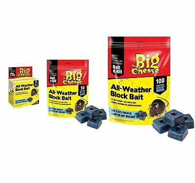 The Big Cheese Professional Strength Block Bait Rat & Mouse Killer Poison