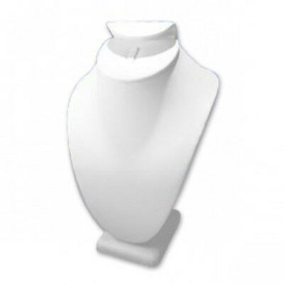 White Leatherette Necklace/Ring/Earring Display  12pcs. - Wholesale Liquidation!