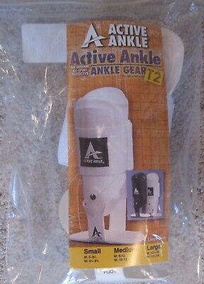 Active Ankle T2 Support Hinged Ankle Brace: Several Sizes NWT WHITE in Color
