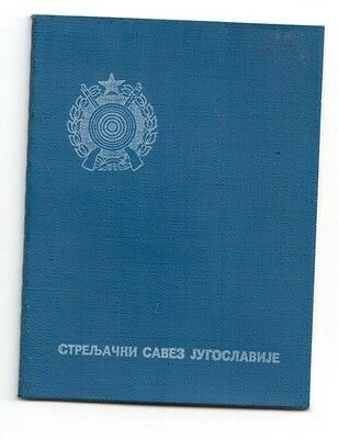 Yugoslav Shooting Federation Members Card 2