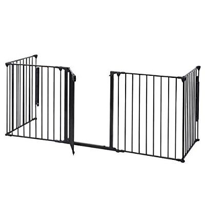HPD Fireplace Fence Baby Safety Fence Hearth Gate BBQ Metal Fire Gate Pet Dog Ca