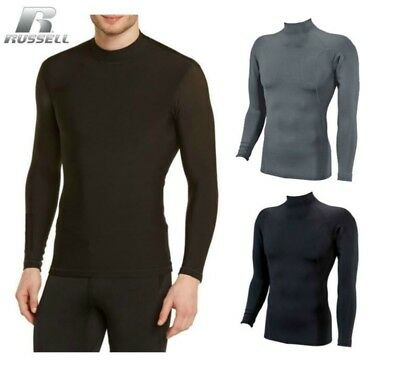 Russell Athletic Mens Dri-Power Cold Weather Mock Turtle Neck Thermal Baselayer