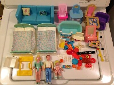 1993 Fisher Price Loving Family Figures Parts & Pieces Lot