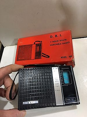VINTAGE D.B.l  POCKET RADIO  AM(MW)- BAND FROM THE 1960S+BOX