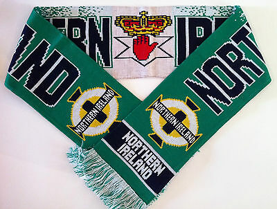 NORTHERN IRELAND Football Scarf NEW from Superior Acrylic Yarns