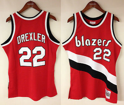 Clyde Drexler Portland Trail Blazers Mitchell   Ness NBA Authentic Jersey  HWC 67a8f0779