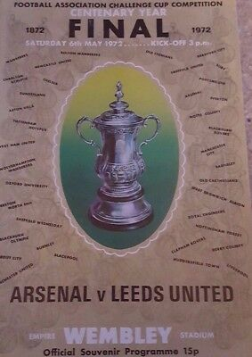 1972 FA Cup final Arsenal v Leeds (at Wembley)