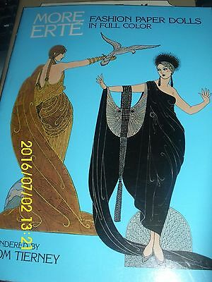 "Erte Paper Dolls ""more Erte Fashion Paper Dolls""  Tom Tierney  2 Dolls  1984"