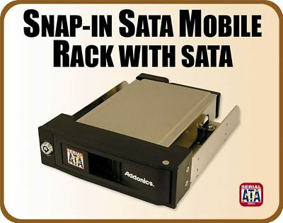 """Addonics Snap-In Mobile Rack - SATA Interface, To Suit 3.5""""SATA HDD"""