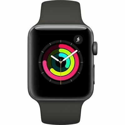 Apple Watch Series 3, MR362 GPS 42mm Space Grey Aluminum Case (with Grey Sport B