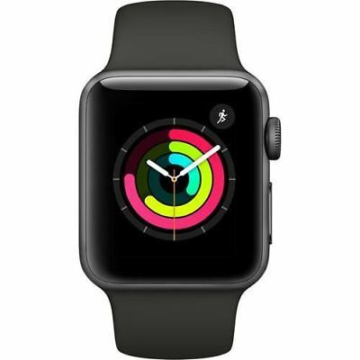 Apple Watch Series 3, MR352 GPS 38mm Space Grey Aluminum Case (with Grey Sport B