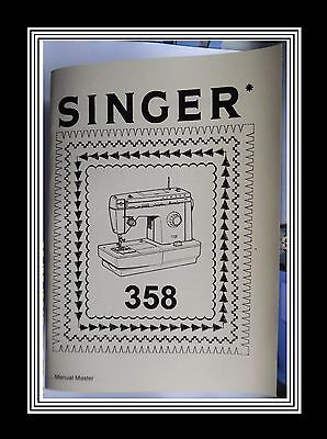 Extended SINGER Model 358 sewing machine instruction Manual Booklet No Machine