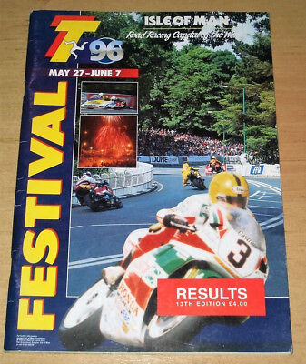 1996 ISLE OF MAN TT RESULTS BOOK - FREE POST TO THE UK - IoM MANX