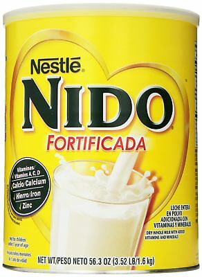Nestle NIDO Fortificada Dry Powdered Milk 3.52 Pound Canister Children Healthy