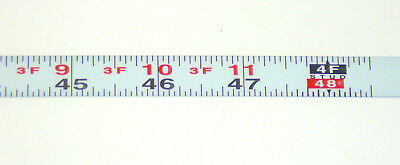 Metal Adhesive Backed Ruler - 1/2 Inch Wide X 4 Feet Long - Left - Fractional