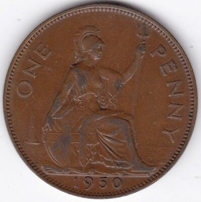1950 George VI Penny***Collectors***Key Date***